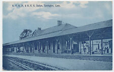 Rare ca. 1910 Nynh&Hrr Railroad Station Torrington Connecticut Ct Post Card