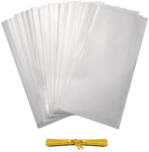 HRX Package 300 Pack Treat Bags, 4 by 6 inch 1.4 Mil Clear OPP Bags with 350pcs