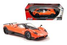 MOTOR MAX 1:18 COLLECTION PAGANI ZONDA F Diecast Car Model Orange Color
