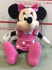 "Disney 10"" Minnie Mouse Pink Polka Dot Dress, Shoes, And Hair Bow. M"