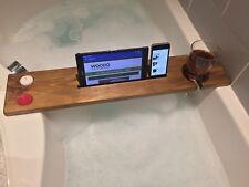 Wooden Bath Caddy Reclaimed Bath Tray Bath Shelf Board Tablet Wine Holder