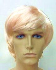 """""""SURFER DUDE"""" Short Blonde Male/Guy/Mens Fancy Dress Wig"""