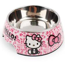 Cute Stainless Steel Hello Kitty Dog Cat Pet Food Bowl Water Dish Feeder Bowl S