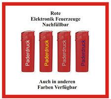 500 Stück TOM nachfüllbare rote Elektronik Feuerzeuge mit Ihrer Werbung