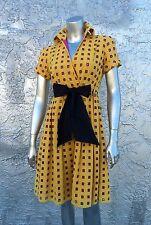 DIANE VON FURSTENBERG Empire Waist Wrap Geometric Square Cut Out Dress RARE!!