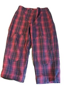 Woolrich Mens Hunting Pants  Red Buffalo Plaid Size 42 x 30 EUC 22332