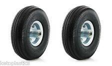 "2 Pack 10"" PU Sack Truck Wheel 4.10 / 3.50 - 4 OFFSET 16MM Bearing Metal Centre"