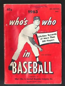 1963 WHO'S WHO IN BASEBALL (Don Drysdale / Mickey Mantle cover photos) FINE