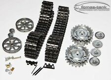 Heng Long réservoir 1:16 3 III Chaînes métalliques Set noir + roues