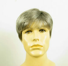 Perruque homme 100% cheveux naturel gris poivre et sel FRED 44