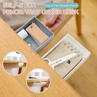 Table Storage Box Large Capacity Desk Drawer Self-Adhesive Pen Jewelry Holder