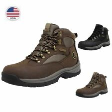US Men's Waterproof Advanced Hiking Boots Mid Ankle Leather Hiker Work Boots