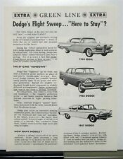 1958 Ford Edsel Compared To Dodge By Green Line Extra Sales Brochure