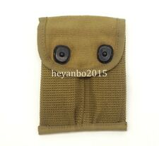 WWII US U.S. 1911 2 CELLS PISTOL DOUBLE MAGAZINE AMMO POUCH BAG