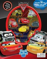 Pixar Cars 3 Stuck on Stories (Includes 10 toy suction cup, a storybook, a board