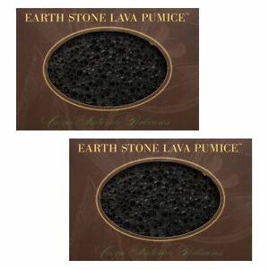 Cuccio Earth Lava Pumice Stone Remover Callus Foot Pedicure - 2 Pieces