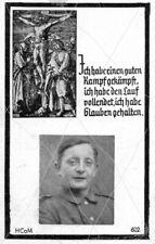 STERBEBILD  AVIS DE  DECES  SOLDAT  ALLEMAND  SAINT  JACQUES  1944  ( 275 )