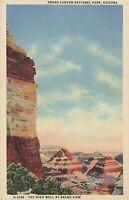 Linen Postcard A638 The High Wall Grand View Canyon National Park AZ Harvey