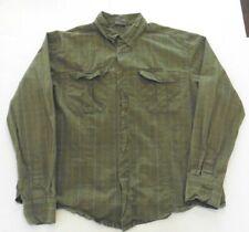 MERRELL Men's XL Green Long Sleeve 100% Cotton Shirt (m)