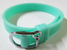 """Keep Collective Turquoise Silicone Single Band Keeper Bracelet Jewelry 8.9"""""""