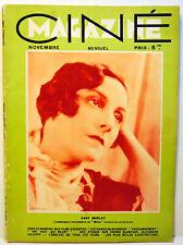 "RARE REVUE CINEMA -11/1932 - N°11 - "" CINEMAGAZINE ""  - 72 PAGES"