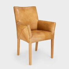 Stuhl Armlehnenstuhl Sessel Designer Regensburg Vintage Echt Leder Nr. 703 Eiche