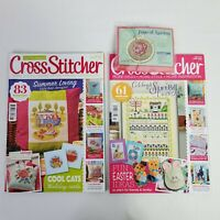 2 Cross Stitcher Magazines and Wooden Pendant Kit Crafts Needle Point