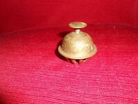 Vintage Brass Elephant Claw Bell Etched With Original Clapper