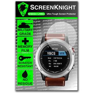 ScreenKnight Garmin D2 Bravo SCREEN PROTECTOR invisible military Grade shield