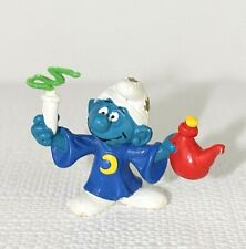 """Smurf West Germany Peyo Bully Wizard Vintage Rare 2"""" high approx Stars Moon  48"""