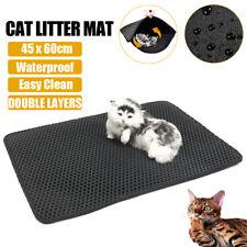 Foldable Double-Layer Cat Litter Mat Waterproof Pad Pet Rug  EVA Trapper