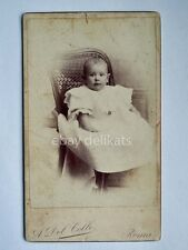 ATTILIO DEL COLLE Roma 1903 bambino Hidden mother vecchia foto CDV old photo