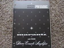 New listing Marantz Pm550 Dc Stereo Integrated Amplifier Original Service Repair Manual