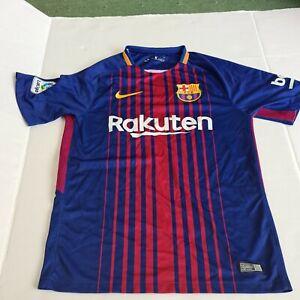 * FC Barcelona 2017/18 Home Nike Jersey Shirt soccer football mens shirt small