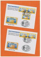 """Bund-ATM-Satz 5/25/75/105/155 Posthorn-Logo ESST Nr. 3.2 """"Posthörner"""" MWZD-SST"""