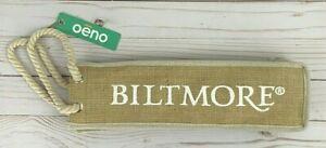 NWT Biltmore Wine Bag Burlap Tan Beige Tote Gift NC Asheville Vanderbilt Holder