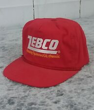 ZEBCO Fishing Hunting Trucker Embroidered Logo Red Hat SnapBack Adjustable Cap