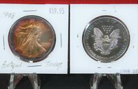2 Slab Coin Holders for Coronet Gold $1.00 #28 with White Insert