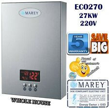 Electric Tankless Water Heater Instant On Demand Whole House 6.5 GPM REFECO270