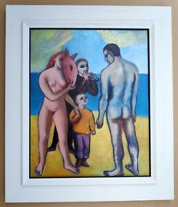 "Scholz, Monika (1941 Leipzig)  ""Begegnung am Strand""  Öl 1976/88"