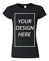Junior Add Your Own Text Design Custom Personalized T-Shirt Tee