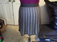 MOSSIMO LADIES SIZE M. SKIRT ELASTIC WAIST KNIT BROWN STRIPED SWEATER SKIRT