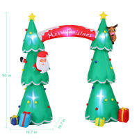 7.5FT Inflatable Santa Claus Stuck In Christmas Tree Yard Holiday Decorations US
