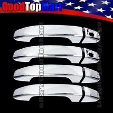 For Chevy COLORADO 2015 2016 2017 CHROME 4 Door Handle Covers WITH PS Keyhole