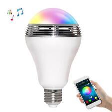 Bluetooth Phone APP Control Music Audio Speaker LED RGB Bulb Light Lamp E27 Z5B6