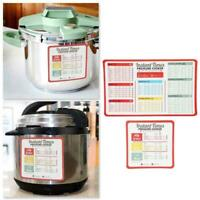 Cheat Sheet Magnets Set For, Electric Pressure Cooker Times Quick O3F5