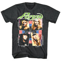 OFFICIAL Poison Look What the Cat Dragged in Men's T-shirt Charcoal Heather