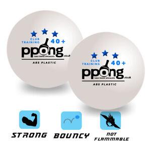 Table Tennis Balls x 12 PPong Pro Match Balls Poly Plastic White UK stock