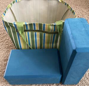 2 Yoga Pilates Foam Blocks (4x6x9) With Bag