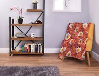 Large Warm Sofa Fleece Throw Bacon and Egg Design Soft Bed Blanket Chair